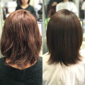 マレーア・レナータ縮毛矯正+カラー